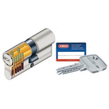 Profilé européen EC-S - 005 - Type cylindre - à 2 entrées de clé, Dimensions - 30x50, FINITION - Nickelé - 44997