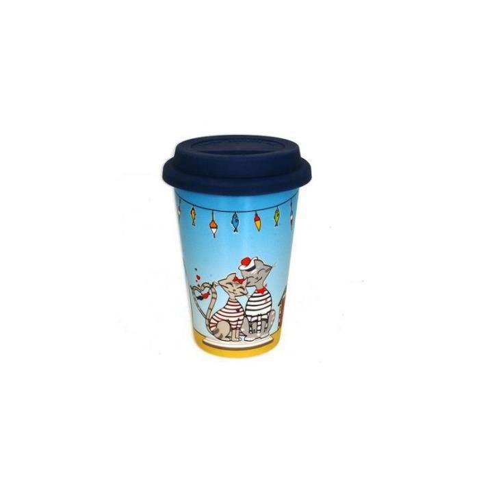 Mug de voyage Roxy - 400 mL - Céramique 14,3 cm