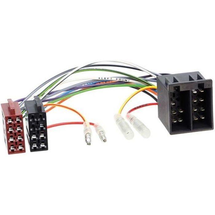 Faisceau autoradio connecteur ISO> ISO avec possibilité inversion alimentation