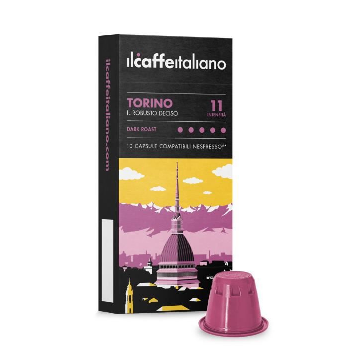 100 Capsules de café compatibles Nespresso - Mélange Torino - Il Caffè Italiano