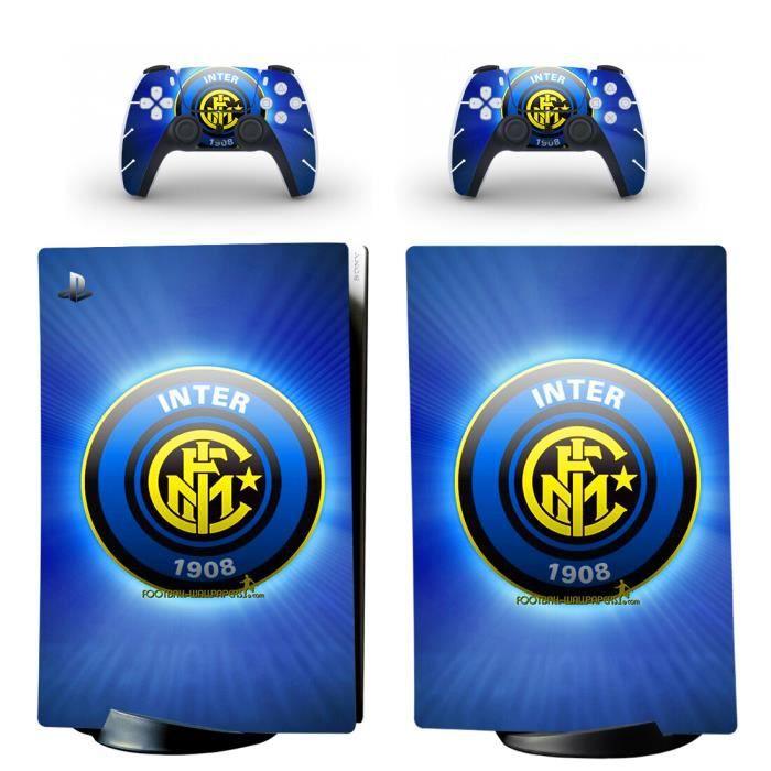 Inter Milan PS5 Digital Édition Sticker Skin Autocollant protection pour PS5 Playstation 5 Digital Édition Console et 2 contrôleurs