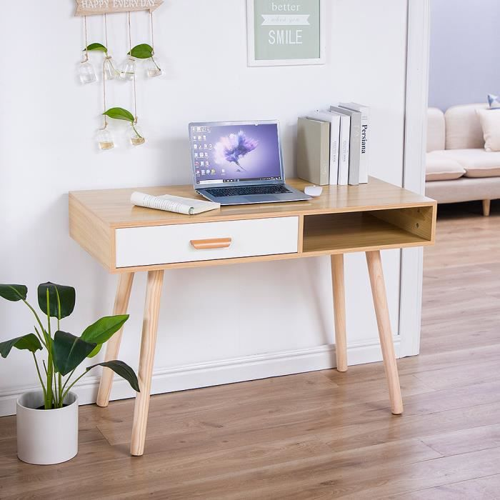 Chêne! Bureau Scandinave! Pieds de table en bois massif!