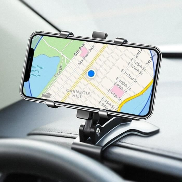 Support de téléphone de voiture 360 degrés GPS Navigation tableau de bord support de téléphone support universel de support de suppo