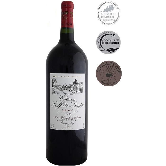 MAGNUM - CHATEAU LAFFITTE LAUJAC 2015 Grand Vin Rouge de Bordeaux Médoc - Crus Bourgeois en 1932 - Médailles Argent Concours Général