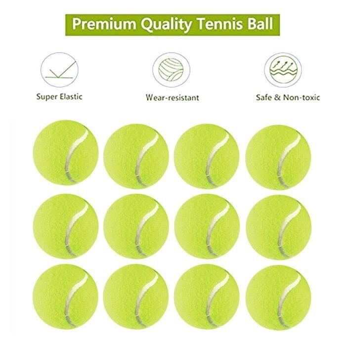 Balle de tennis avec sac en filet pour chiot balle de chien réutilisable durable 12 pièces @irhaang229