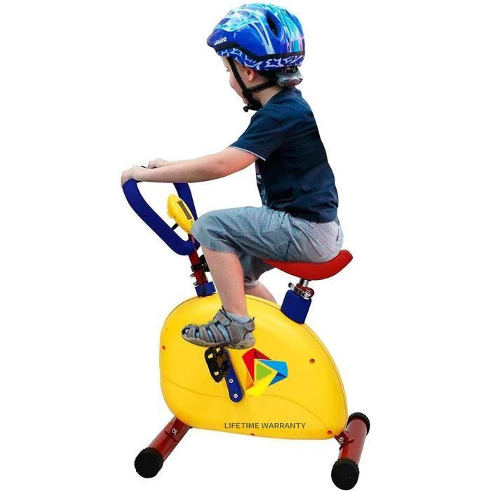 Vélo d'appartement professionnel pour enfants, avec compteur électronique : distance, calories, entraînement cardio, hauteur rég23
