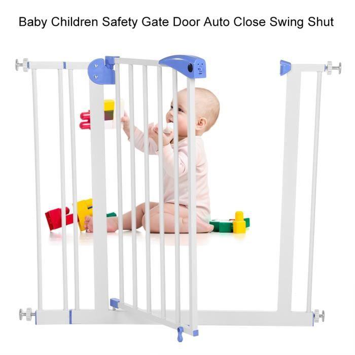 Barrière de Sécurité Bébé, Enfant - 80-91cm - Barrière de Sécurité pour Escaliers, Portes, Couloir -QNQ