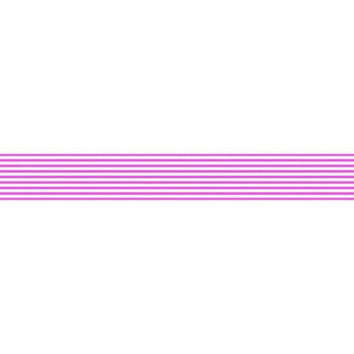 Washi Ruban Décoratif Adhésif - 10m x 15mm - Blanc Et Rose Bandes, Folia Bringmann
