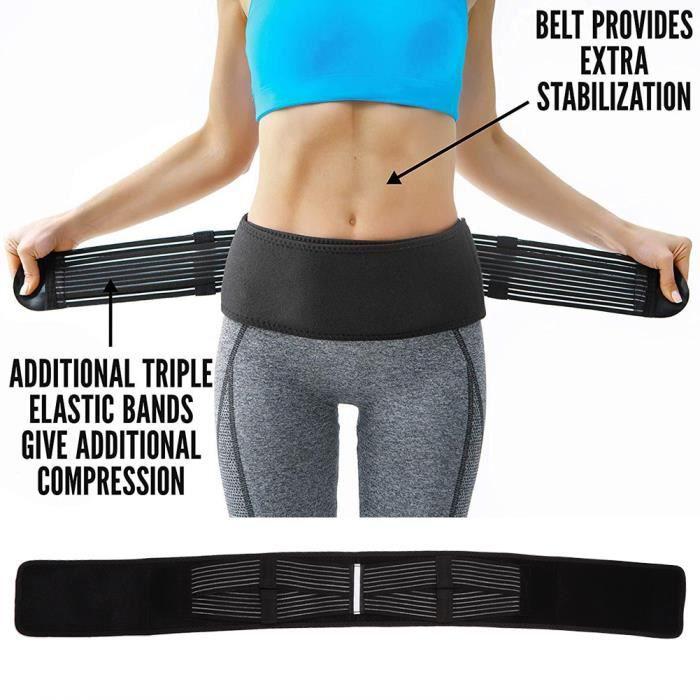 Ceinture de hanche de bassin Taille arrière respirante de soutien pour correction pelvienne des douleurs articulaires -COU-CWU
