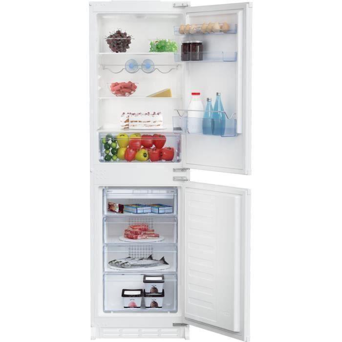 BEKO BCSA269K30N Réfrigérateur encastable congélateur bas - 265 L (163 + 102) - Froid statique
