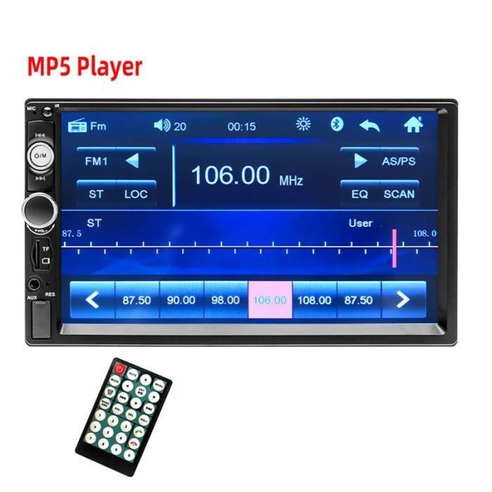 radio seulement Autoradio Android, MP5, Bluetooth, USB, FM, caméra, lecteur multimédia, Mirrorlink, 2 din