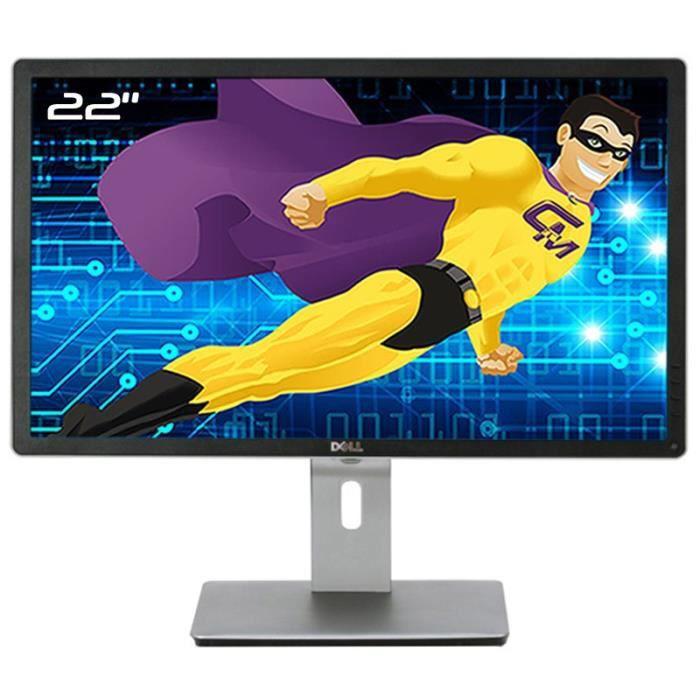 Ecran PC 22- Dell P2213f 044FGY 44FGY LED TFT VGA DVI-D DisplayPort USB 16:10
