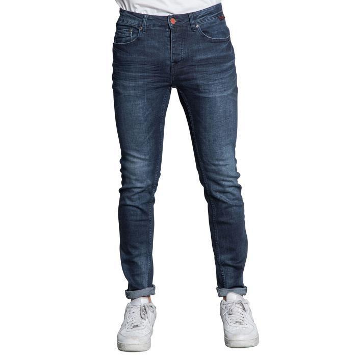 DEELUXE Jeans slim et souple LENNY Dark Blue Used