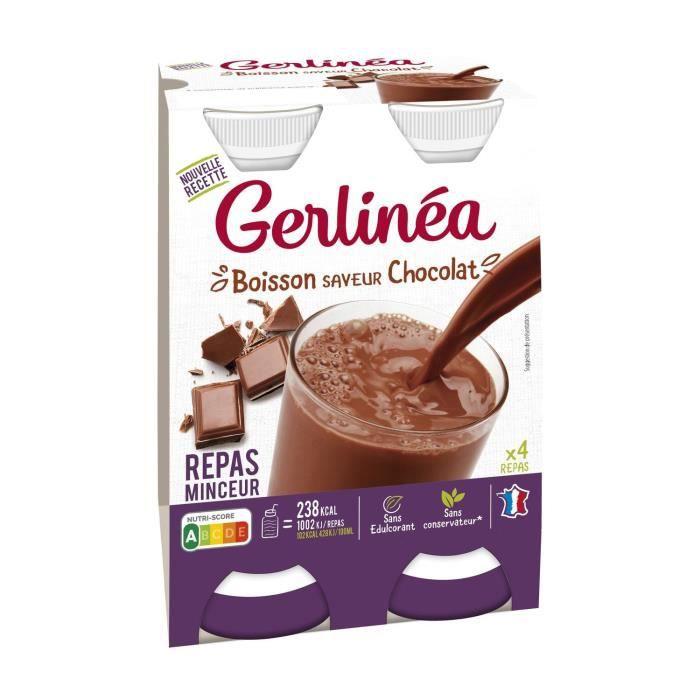 GERLINEA Repas minceur à boire, substitut de repas au chocolat - 4x 236 ml