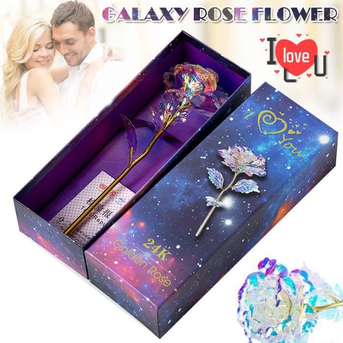 True Love Galaxy Rose Glowing Artificielle Rose Fleur Valentine