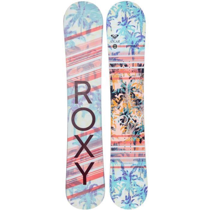 Snowboard Femme Roxy 2017 Sugar - 146cm Blanc - Rose