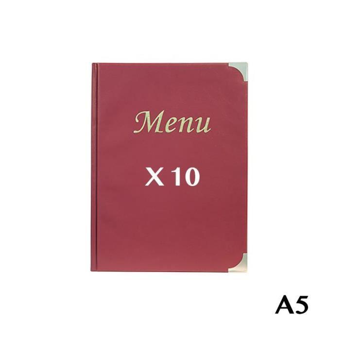 10 Protège-menus A5 Basic bordeaux 8 Bordeaux