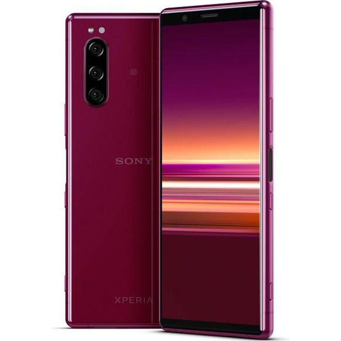 Sony Xperia 5 - Smartphone débloqué 4G (Ecran 21: 9 Cinemawide OLED de 6, 1- - 128 Go - Double SIM - Android Pie) - Rose