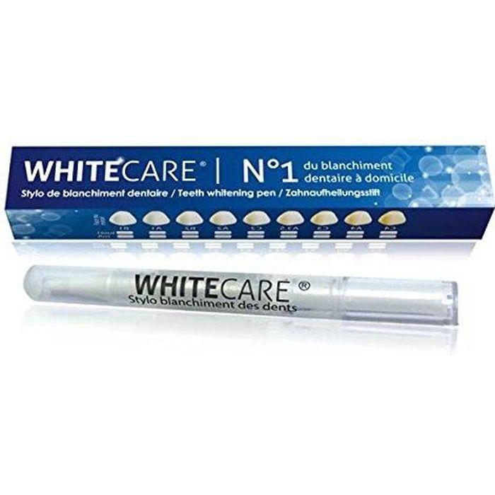 Stylo Blancheur Goût Menthe WHITE CARE ® - Stylo Blanchiment des Dents qui nettoie et blanchit les dents -Laboratoire WHITECARE® NF