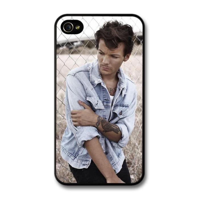 Louis Tomlinson Denim Jacket Tatoo 1D One Direction coque pour ...