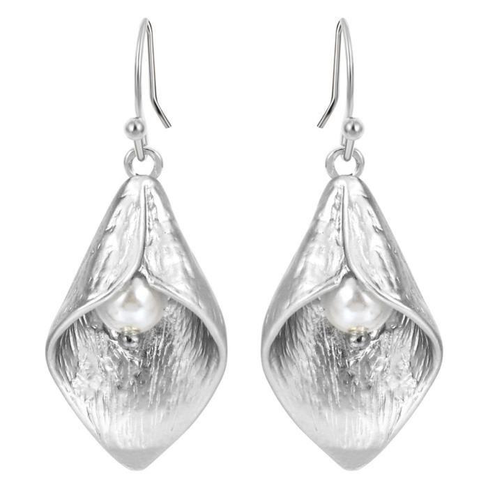 bijoux élégant les femmes triangle oreille étalon or argenté boucles d/'oreilles