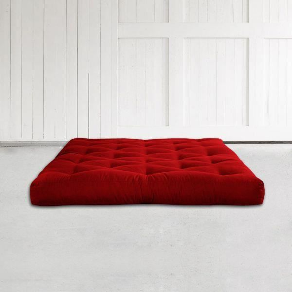 matelas futon polybasica 140x200 rouge achat vente futon cdiscount. Black Bedroom Furniture Sets. Home Design Ideas