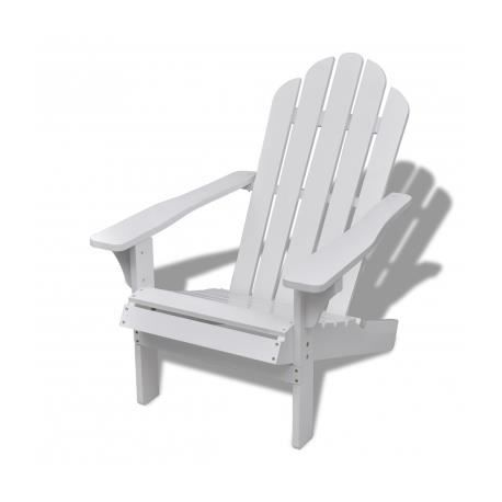 Chaise de salon jardin en bois blanche chaise relaxation for Chaise de jardin solde