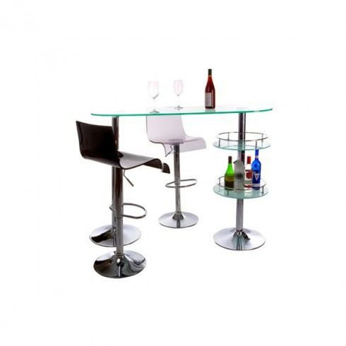 bar en verre koktail verre achat vente meuble bar bar en verre koktail verre verre acier. Black Bedroom Furniture Sets. Home Design Ideas