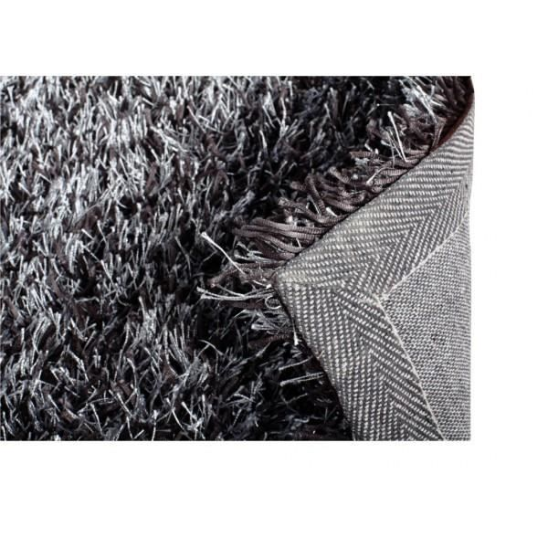 tapis shaggy gris argent 160x230cm achat vente tapis cdiscount. Black Bedroom Furniture Sets. Home Design Ideas