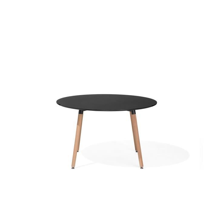 Mobilier table table salle a manger noir for Table a manger noir
