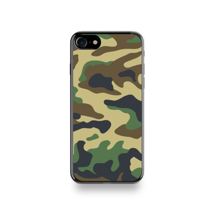 coque apple iphone 7 silicone motif camouflage ver