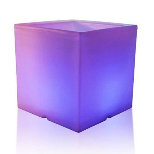 cache pot cube d 39 ext rieur lumineux 48 led achat vente jardini re pot fleur cache. Black Bedroom Furniture Sets. Home Design Ideas