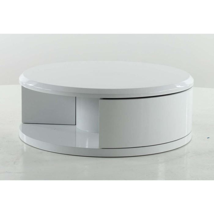 Table basse ronde blanche achat vente table basse for 2 table basse ronde