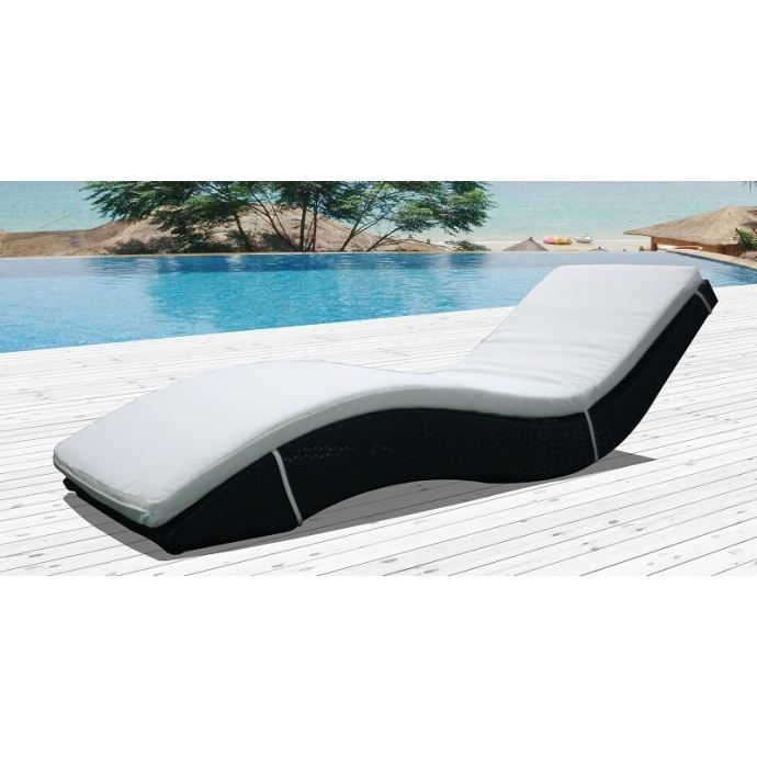 ondine bain de soleil ondul r sine tress e achat vente chaise longue ondine bain de. Black Bedroom Furniture Sets. Home Design Ideas
