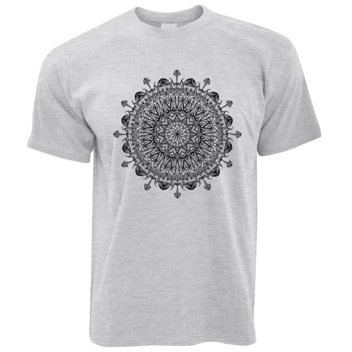 f1d31e2831247 T-Shirt Homme - Motif Mandala filles Henna Hindi Inde Design Copie ...