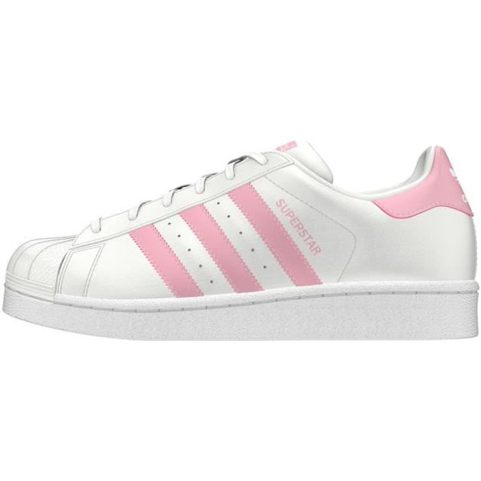 ADIDAS ORIGINALS Baskets SUPERSTAR FEMME BLANC/ROSE Blanc ...