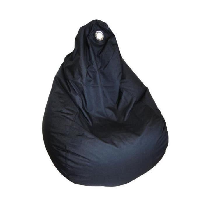 POUF - POIRE Poire Side imperméable Noire 90x110 cm