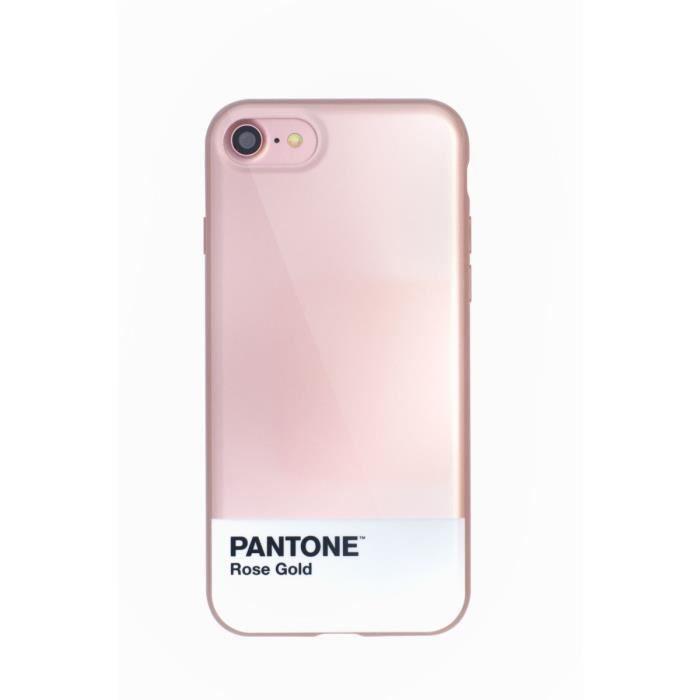 coque pantone iphone 7 bumper rose dore