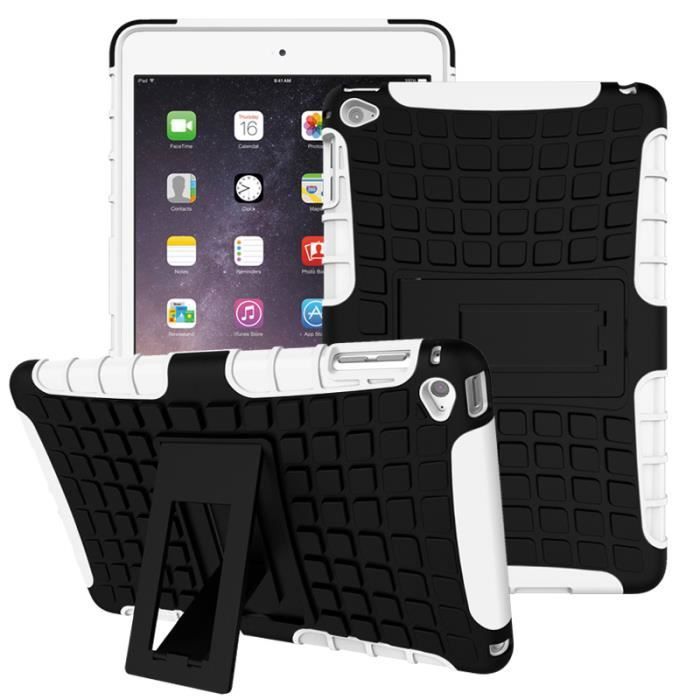 tutuwen pour apple ipad mini 4 coque tui 2 en 1 hybride armor combo avec support antichoc. Black Bedroom Furniture Sets. Home Design Ideas