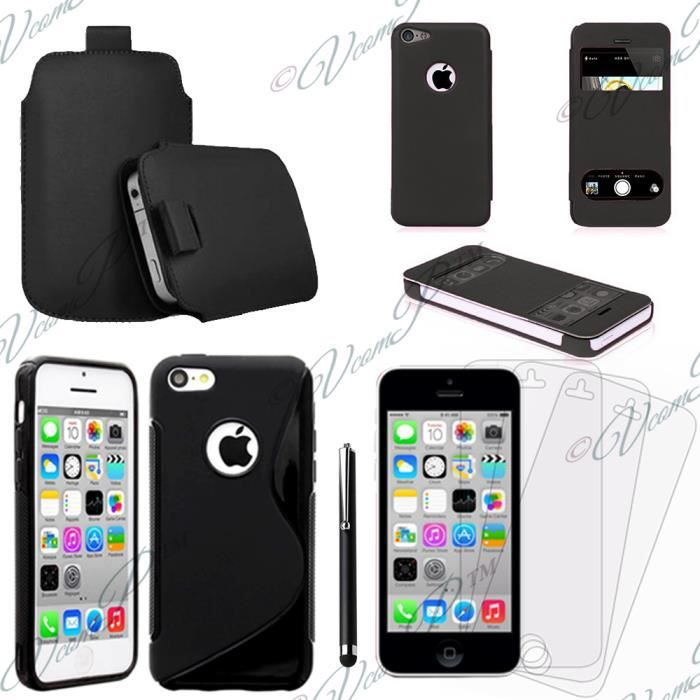 accessoires s view pour apple iphone 5c noir achat vente pour apple iphone 5c noir. Black Bedroom Furniture Sets. Home Design Ideas