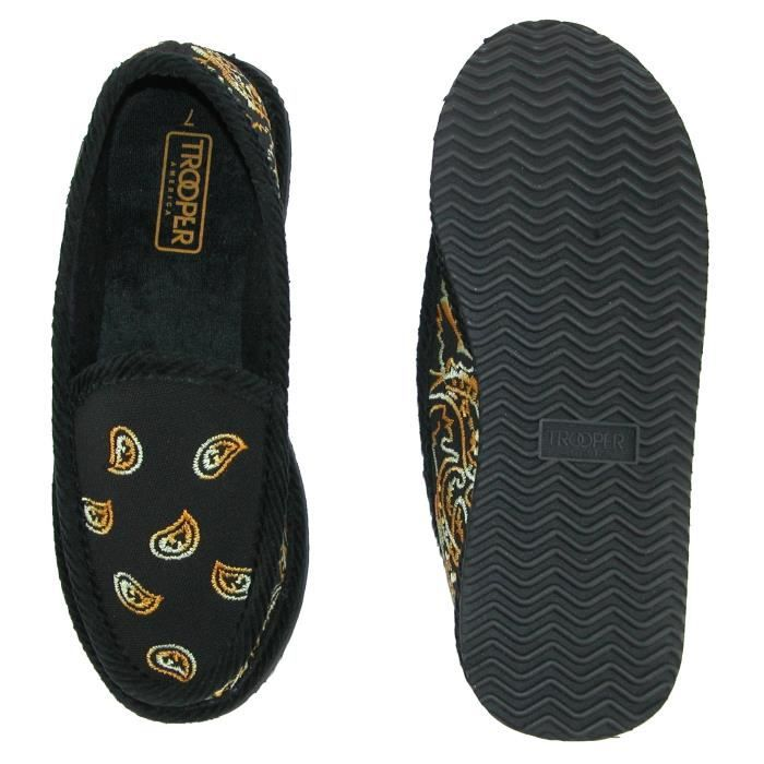 Tiger Paisley Bandana Print Slip On House Shoe Slippers UXGCF Taille-42 tBHpk4a