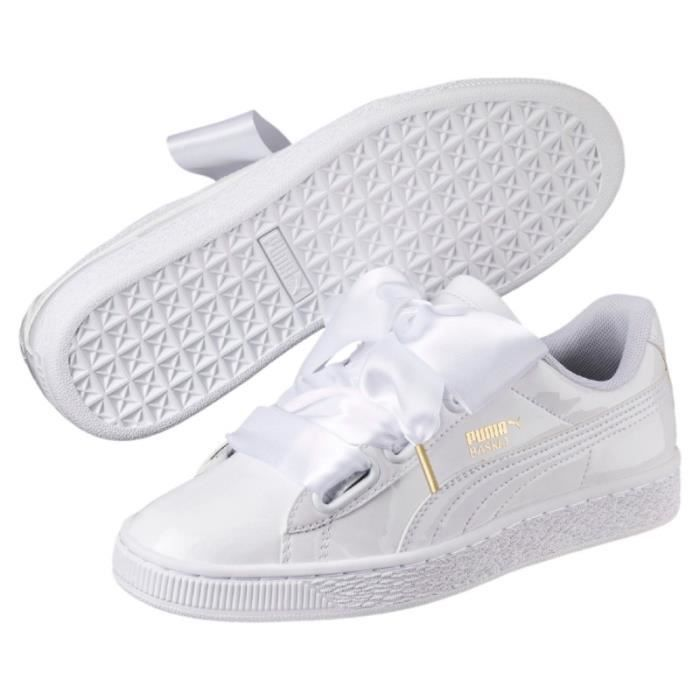 Baskets - Puma White Heart Patent - Couleur - Blanc, Taille - 38