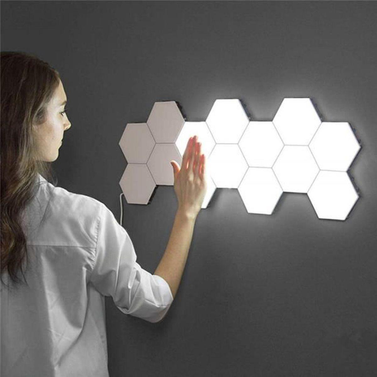 Combien De Led Pour Eclairer Une Piece lampe quantique led lampes hexagonales modulaire tactile