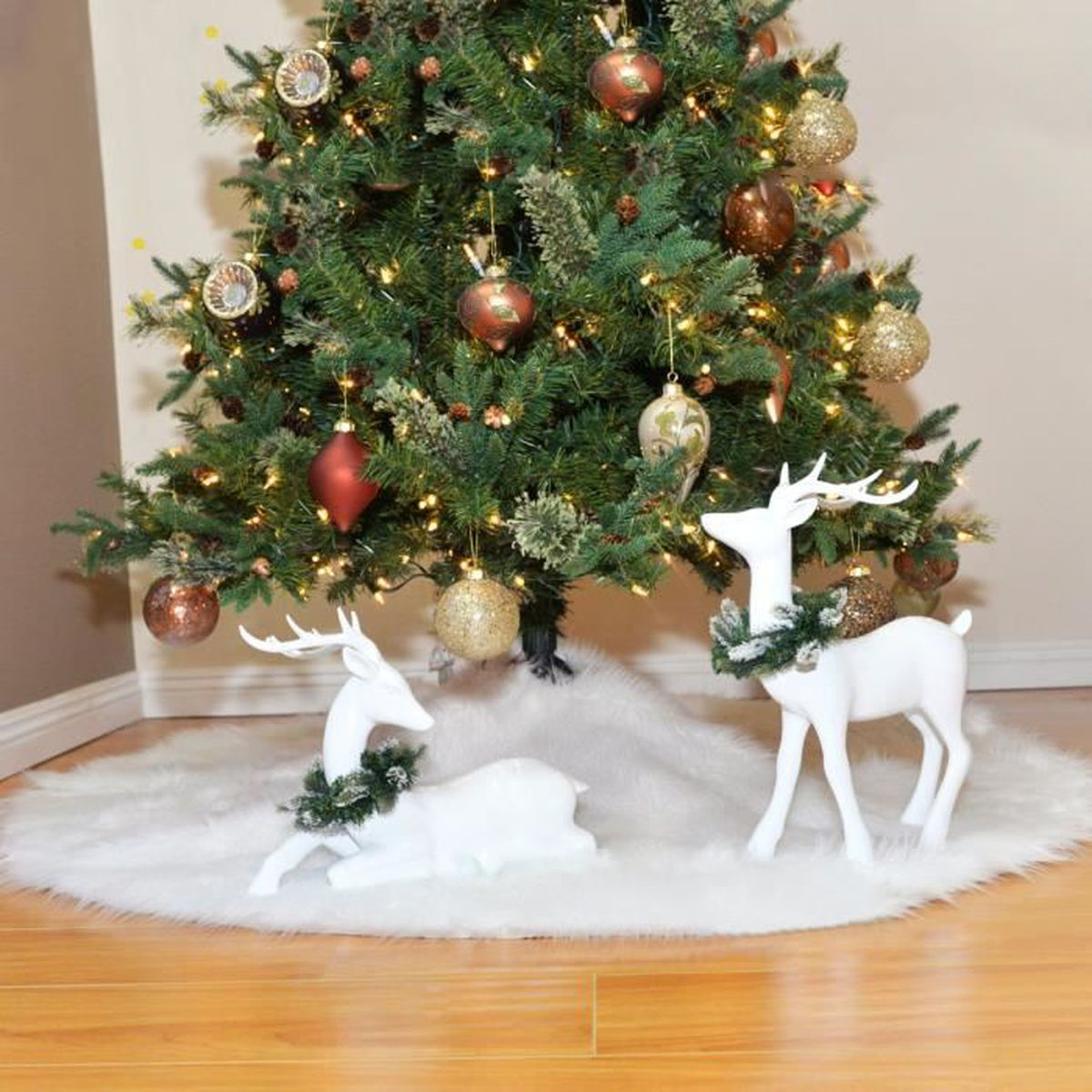 Deco Pied De Sapin tapis de sapin arbre de noël tinksky 78cm arbre de noël jupe