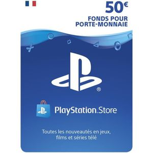 CARTE PRÉPAYÉE Playstation Network Live Card 50 € PS4 - PS3 - PS