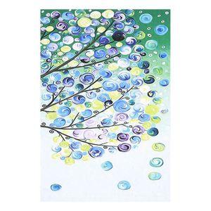 TABLEAU - TOILE 4pcs peinture toile quatre saisons arbre mur photo