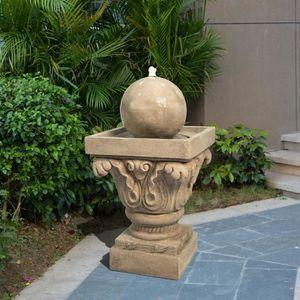 FONTAINE DE JARDIN Fontaine de jardin d'extérieur en sphère avec écla