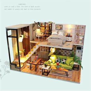 Modern DIY Passion Assembled Wooden Starry Sky Dollhouse Miniature Furniture Kit