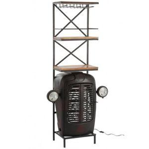 TABOURET DE BAR Meuble de bar rétro déco tracteur métal et bois vi