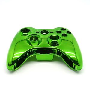 STICKER - SKIN CONSOLE 1 green set shell chromé cas + bouton pour Xbox 36